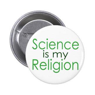 Wissenschaft ist meine Religion Runder Button 5,1 Cm