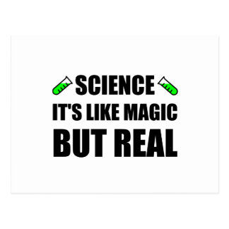 Wissenschaft mögen Magie aber wirkliche Postkarte