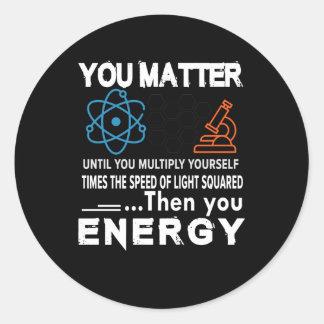 Wissenschaft sind Sie bis sich multiplizieren von Runder Aufkleber