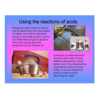 Wissenschaft, unter Verwendung der Reaktionen der Postkarte