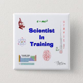 Wissenschaftler im Training Quadratischer Button 5,1 Cm