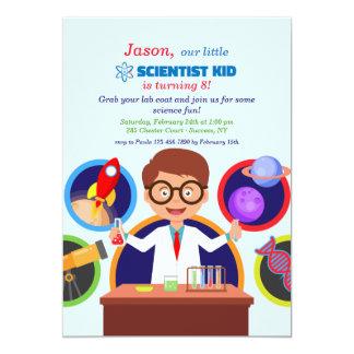 Wissenschaftler-Kindergeburtstags-Party Einladung