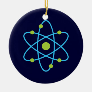Wissenschafts-Atom Rundes Keramik Ornament