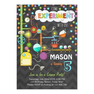 Wissenschafts-Experiment-Geburtstags-Party 12,7 X 17,8 Cm Einladungskarte