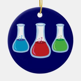 Wissenschafts-Flaschen Rundes Keramik Ornament
