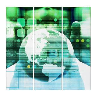 Wissenschafts-futuristische Technologie als Triptychon