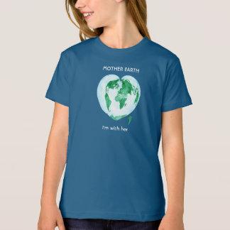Wissenschafts-März-Mädchen-T - Shirt - Mutter-Erde