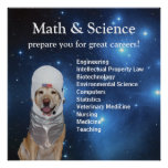 Wissenschafts-Mathe-niedliche Raum-Labrador-Sterne Plakate