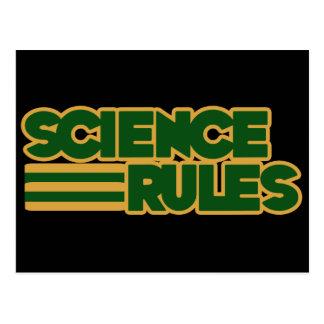 Wissenschafts-Regeln Postkarte