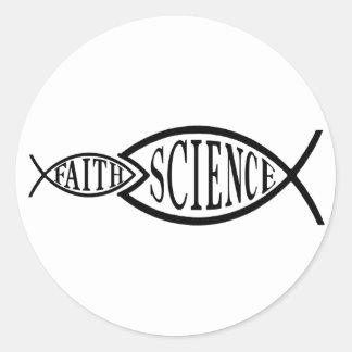 Wissenschafts-Trumpf-Glauben-Fische Runder Aufkleber