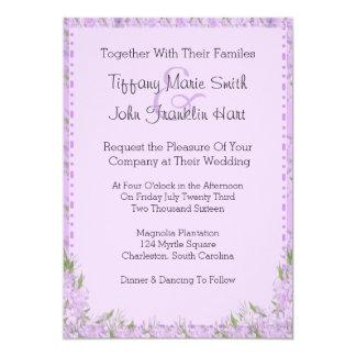 Wisteria-Blumen, die Einladung Wedding sind
