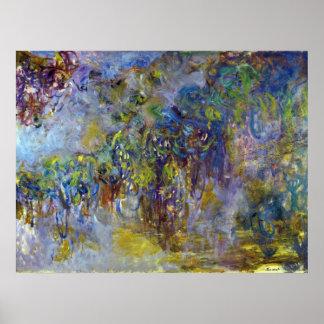 Wisteria durch Claude Monet, Vintager Poster