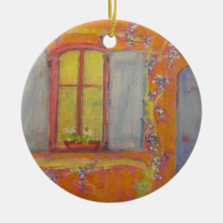 Wisteria-Hütte Provence Frankreich Keramik Ornament