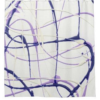 Wisteria-lila Farben-Spritzer-Duschvorhang Duschvorhang