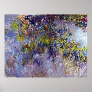 Wisteria (verlassen) durch Claudet Monet, Vintage Poster
