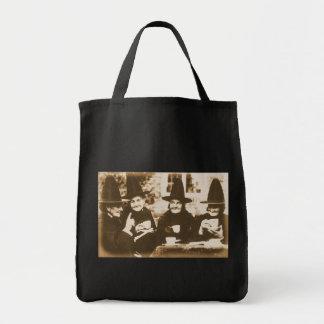 Witches Tea Party – sepia Tragetasche