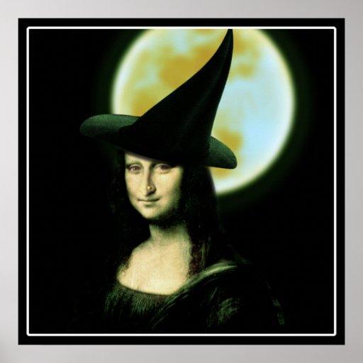 Witchy Frau Mona Lisa Halloween Plakatdruck