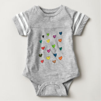 WITH_LOVE: Colorfull Herzmuster Baby Strampler