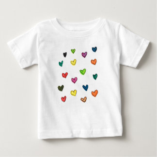 WITH_LOVE: Colorfull Herzmuster Baby T-shirt
