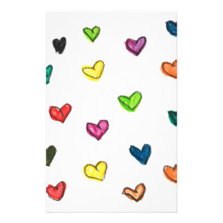 WITH_LOVE: Colorfull Herzmuster Briefpapier