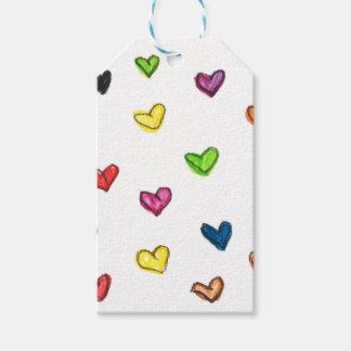 WITH_LOVE: Colorfull Herzmuster Geschenkanhänger