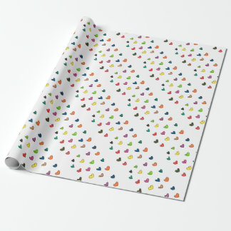 WITH_LOVE: Colorfull Herzmuster Geschenkpapier