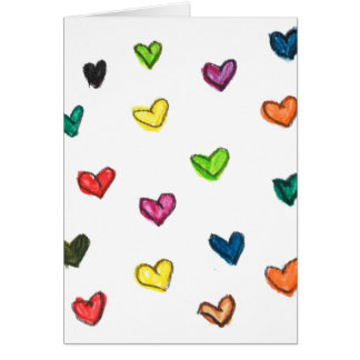 WITH_LOVE: Colorfull Herzmuster Karte