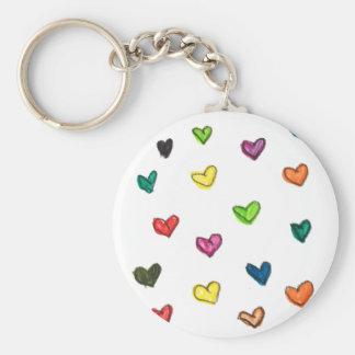 WITH_LOVE: Colorfull Herzmuster Schlüsselanhänger
