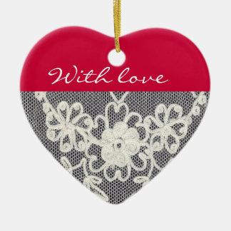 with love..ornament keramik ornament