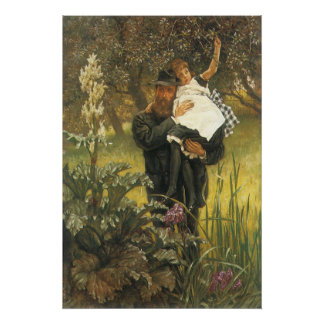 Witwer durch Tissot, Vintage viktorianische Poster
