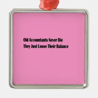 Witze Quadratisches Silberfarbenes Ornament