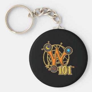 Wizard101 Keychain - Logo Standard Runder Schlüsselanhänger
