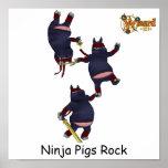 Wizard101 Ninja Schwein-Plakat