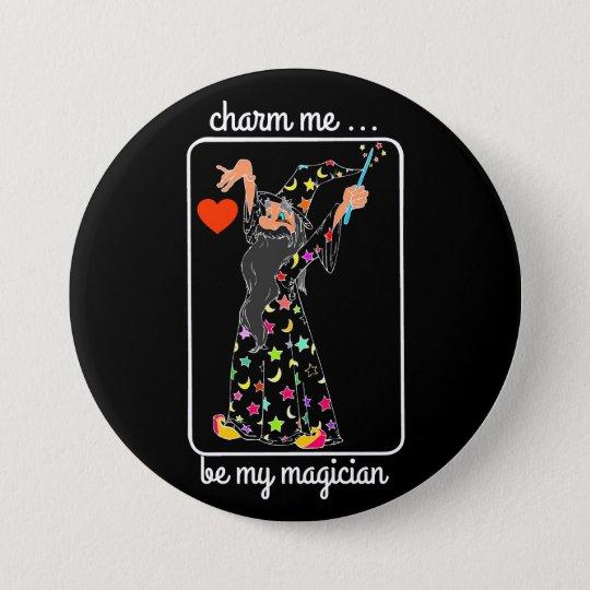 wizard charm me runder button 7,6 cm
