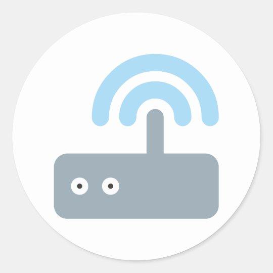 WLAN Router Runder Aufkleber
