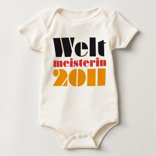 WM-Baby-Body Weltmeisterin 2011 Strampelanzug