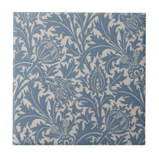 Wm Morris Kunst-u. Handwerks-blaue Distel Repro Fliese