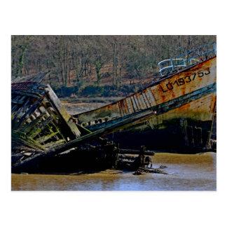 Wo alt, gehen Boote sich zurückzuziehen Postkarte