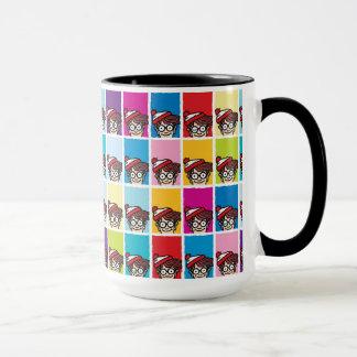 Wo bunter Waldo ist, kopieren Sie Tasse