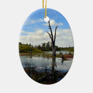 Wo das Tier-Spiel, Riverland, Australien, Keramik Ornament