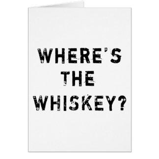 Wo der Whisky ist Grußkarte