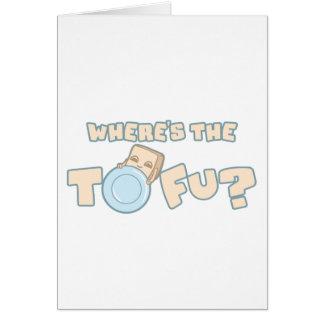 Wo die Tofu-Karte ist Karte