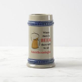 Wo es Bier - Anästhesiologe gibt Bierglas