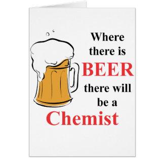 Wo es Bier - Chemiker gibt Mitteilungskarte