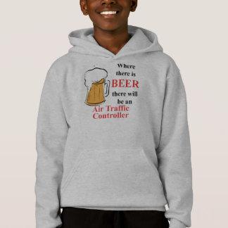 Wo es Bier - Fluglotse gibt Hoodie