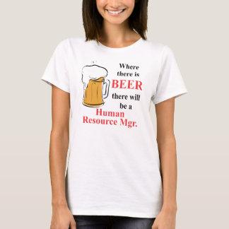 Wo es Bier - menschliches T-Shirt
