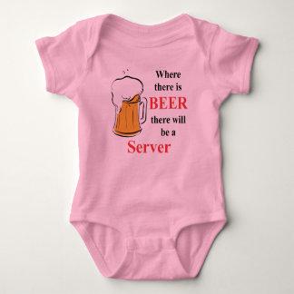 Wo es Bier - Server gibt Baby Strampler