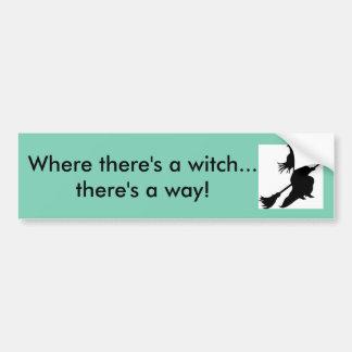 Wo es eine Hexe gibt Autoaufkleber