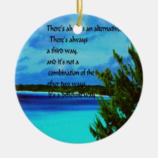 Wo es einen Willen gibt Keramik Ornament