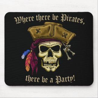 Wo es Piraten gibt Mousepad